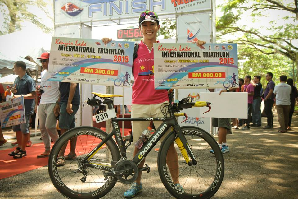 Double whammy win at Kenyir Tri with my sponsored Boardman Air 9.8 TT bike