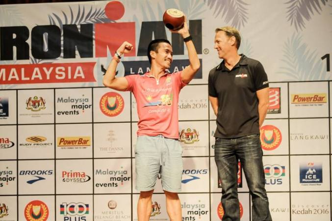 Ironman Malaysia 2015 where Bunanamo Tri Club won fastest club award - Photo credit Ironman Malaysia
