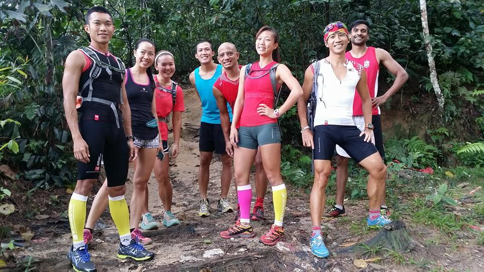 Trail running at Kiara with the gang, crosstraining is awesome to build fitness - Photo credit ABN