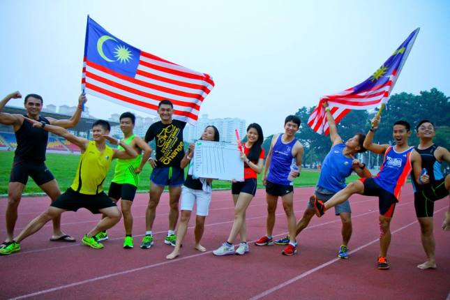 With SRE gang, celebrating Malaysia Independance day - Photo credit Fendy Ahmad