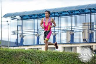 jakroo 2 piece trisuit - enroute to winning the Kerian duathlon - pic credit cycling malaysia magazine
