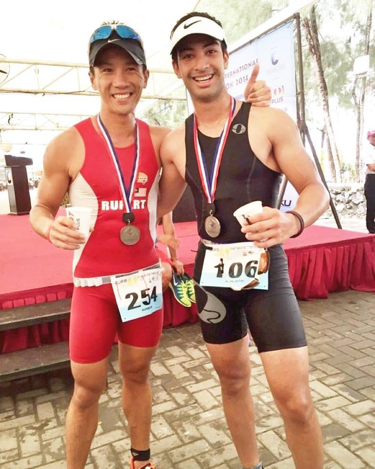 Nabil Jeffri completed his first tri in 6th position after I started coaching him