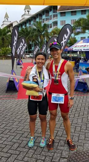 Rupert winning the Desaru Tri and Aimi Iwasaki coming in 2nd, both taking CarboPro